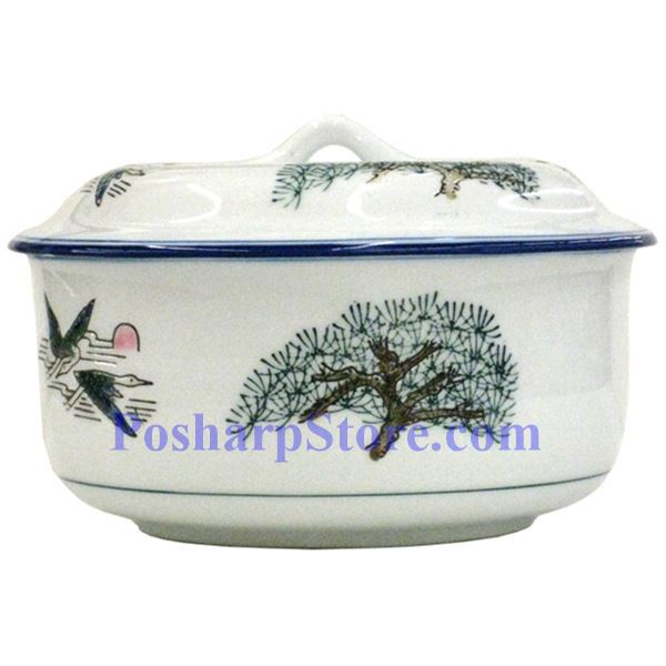 Picture for category Porcelain 7 Inch Crane & Pine Tree Jar with Lid