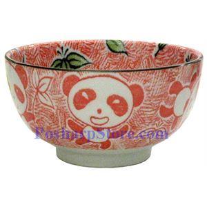 图片 日本5英寸熊猫陶瓷直口碗(红色)
