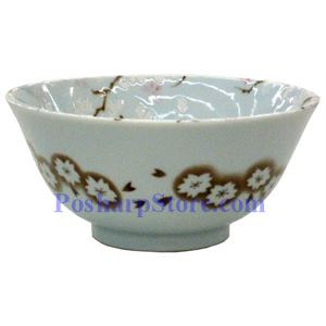 Picture of Japanese 6-Inch Brown Plum Blossom Porcelain Rice Bowl