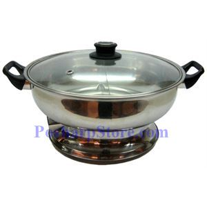 Picture of Myland  Electric Cooktop Stainless Steel Twin Hot Pot