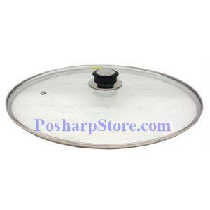 图片 36CM不锈钢包边玻璃锅盖