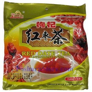 Picture of Jinque Instant Wolfberry & Red Date (Jujube) Brown Sugar Tea 7.7 oz