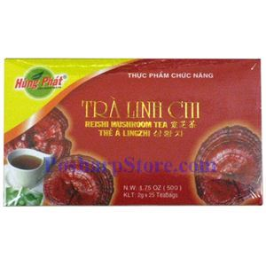 Picture of Hung Phat Reishi Mushroom (Ganoderma) Tea, 25 Teabags