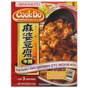 Picture of Ajinomoto CookDo Premixed Mabo Tofu Sauce Medium Spicy 3.8 Oz