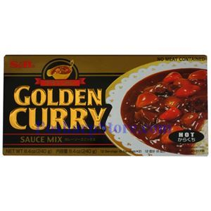 Picture of S&B  Golden Curry Sauce Mix Hot Spicy 8.4 Oz