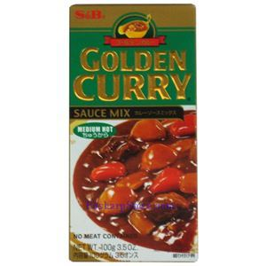 Picture of S&B  Golden Curry Sauce Mix Medium Spicy 3.5 Oz