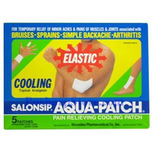 Picture of Hisamitsu Salonsip Aqua-Patch Pain Relieving Cooling Patch 5 Patches