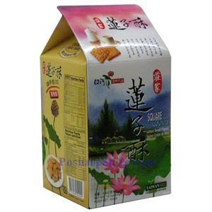 Picture of ZhuangJia Square Cookies Lotus Seed Flavor 15oz