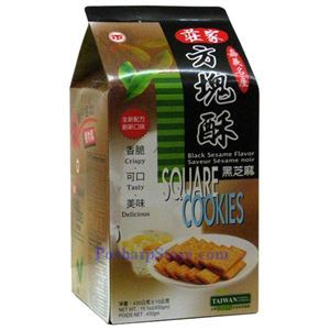 Picture of ZhuangJia Square Cookies Black Sesame Flavor 15oz