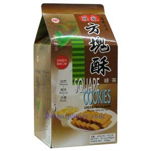 Picture of ZhuangJia Square Cookies Green Tea Flavor 15oz