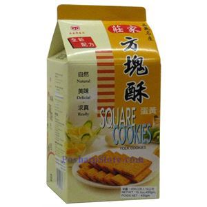Picture of ZhuangJia Square Cookies Egg Yolk Flavor 15oz