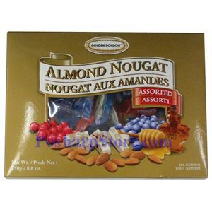 Picture of Golden Bonbon  Assorted Almond Nougat Candy 8.8 oz