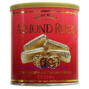 Picture of Brown Haley Almond Roca Chocolate Tin 10 oz