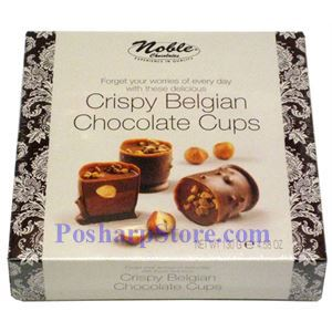 Picture of Noble Chocolates  Cryspy  Belgian Chocolate Cups 4.58 oz