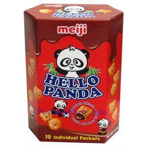图片 日本明治熊猫牌奶芯饼干 260克