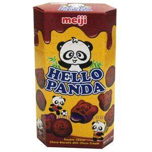 图片 日本明治熊猫牌巧克力饼干 50克