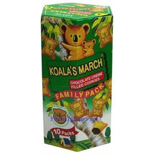 Picture of Lotte Koala's March Chocolate Creme Filled Cookies Family Pack 6.9oz