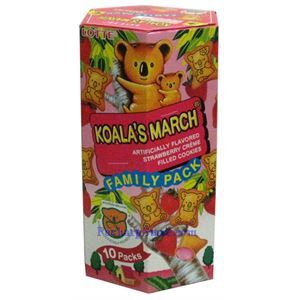 Picture of Lotte Koala's March Strawberry Creme Filled Cookies Family Pack 6.9oz