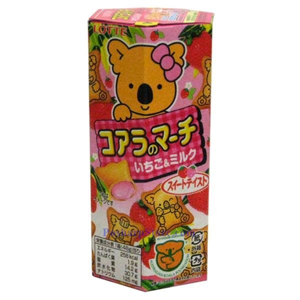 分类图片 韩国Lotte熊仔牌草莓饼干 41克