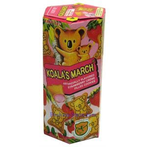 Picture of Lotte Koala's March Strawberry Creme Filled Cookies 1.45oz