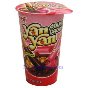 Picture of Meiji Yanyan  Chocolate Strawberry Dip Biscuits 1.55oz