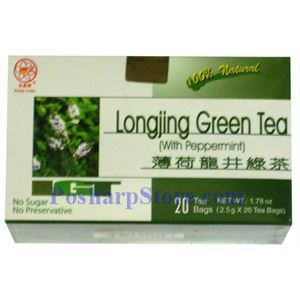 Picture of Pretty Lotus Longjing Green Tea with Peppermint 20 Teabags