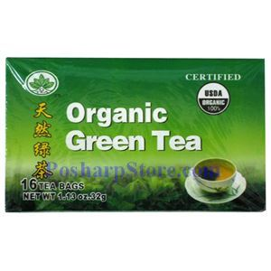 Picture of G Tea Certified Organic Green Tea 16 Teabags