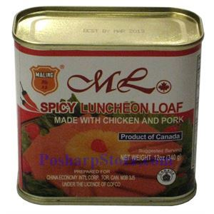 Picture of Maling Spicy Luncheon Loaf with Chichen and Pork 12 oz