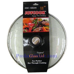 Picture of Joycook EDC-GG28 Stainless Steel Edged 11 Inch Glass Wok/Pan Cover
