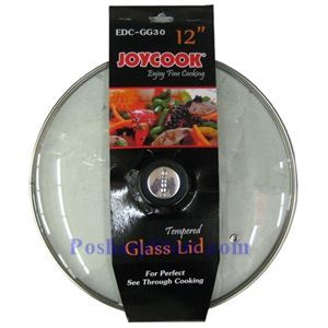 Picture of Joycook EDC-GG30 Stainless Steel Edged 12 Inch Glass Wok Cover