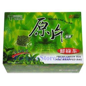 图片 世家牌鲜绿茶原片 20包