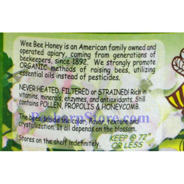 Picture for category Wee Bee Naturally Raw Honey 2 lbs