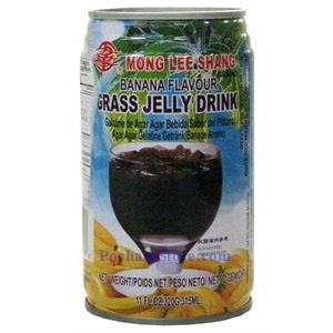 Picture of Mong Lee Shang Banana Flavor Grass Jelly Drink 11 Fl.Oz