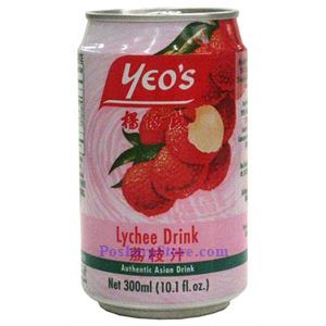 Picture of Yeo's Lychee Drink - Authentic Aisan Drink 10.1 Fl.Oz