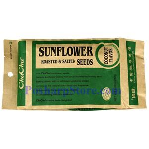 Picture of ChaCha Roasted & Salted  Sunflower Seeds with Coconut Flavor 8.8 oz