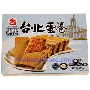 Picture of I-Mei Taipei Egg Crisps with Dried Fish Floss Flavor 6.21 oz