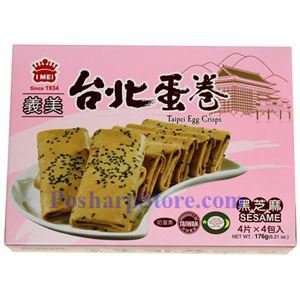 Picture of I-Mei Taipei Egg Crisps with Sesame Flavor 6.21 oz