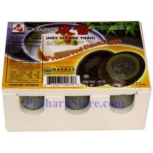Picture of Asian Taste Preserved Duck Eggs (Hot Vit Bac Thao) 6 pcs