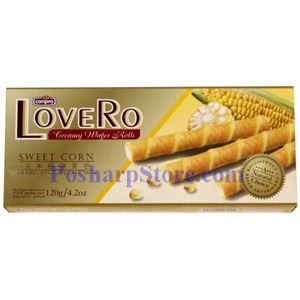 Picture of Conpro LoveRo Sweet Corn Creamy Wafer Rolls 4.2Oz