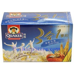 Picture of Quaker Instant 3-In-1  Natural Grains with Seafood Flavor 8.5 oz