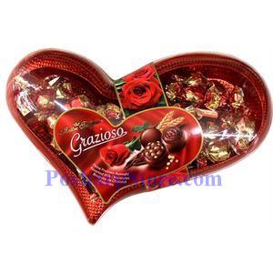 Picture of Maitre Truffout Grazioso Assorted Milk Chocolates in Heart Box 16.7 Oz