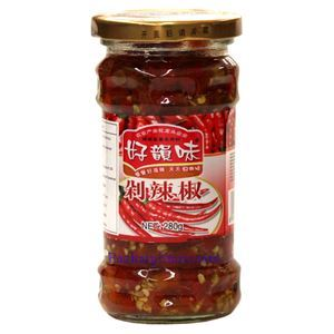 Picture of Haoyunwei Hunan Style Pickled Chili Peppers (Duolajiao) 9.8 Oz