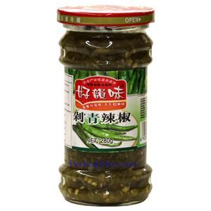 Picture of Haoyunwei Hunan Style Pickled Green Chili Pepper Sauce 9.8 Oz