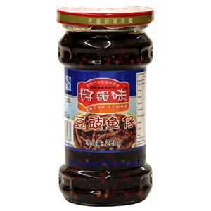 Picture of Haoyunwei Hunan Style Black Beans & Baby Fish in Chili Sauce 9.8 Oz
