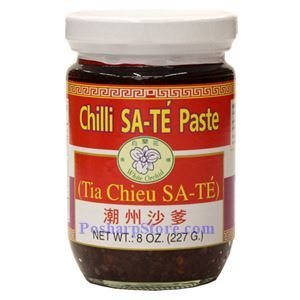 Picture of White Orchid Chili Sate Paste (Tia Chieu Sate) 8 Oz