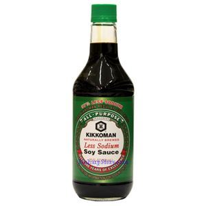 Picture of Kikkoman Less Sodium Soy Sauce 20 Fl Oz