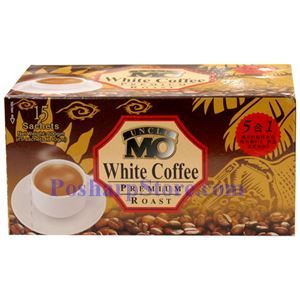 Picture of Uncle Mo 5-In-1 Premium Instant White Coffee 21 Oz, 15 Sachets