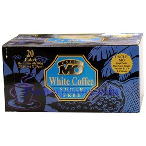 Picture of Uncle Mo Premium Instant White Coffee Without Sugar 20 Packs