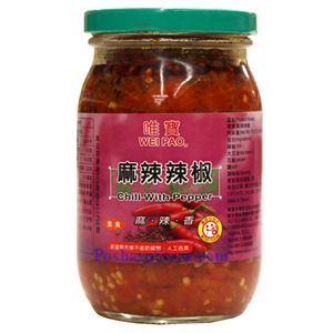 Picture of Wei Pao Chili Sauce with Peppercorns 15 Oz