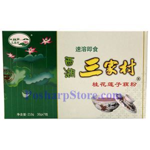 Picture of Sanjiacun Instant Lotus Powder with Osmanthus Flowers 7.4 Oz, 7 bags